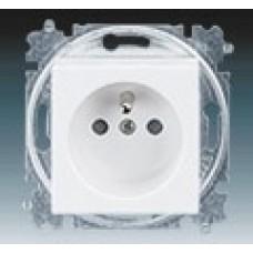 zásuvka s clonkami ABB Levit 5519H-A02357 01 biela/ľadová biela bezskrutková