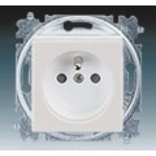zásuvka s clonkami ABB Levit 5519H-A02357 16 šedá/biela bezskrutková