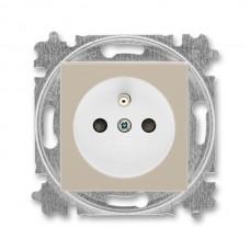 zásuvka s clonkami ABB Levit 5519H-A02357 18 macchiato/biela bezskrutková