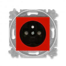 zásuvka s clonkami ABB Levit 5519H-A02357 65 červená/dymová čierna bezskrutková