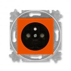 zásuvka s clonkami ABB Levit 5519H-A02357 66 oranžová/dymová čierna bezskrutková