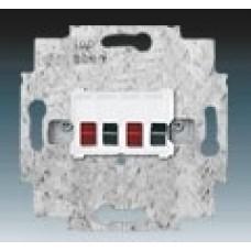 reproduktorová zásuvka stereo priama ABB 0230-0-0403 biela
