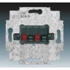 reproduktorová zásuvka stereo priama ABB 0230-0-0404 čierna