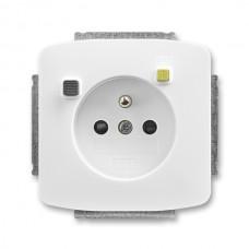 zásuvka s prúdovým chráničom FI-DOS ABB Tango 5526A-A02369 B biela