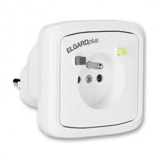 adaptér s prúdovým chráničom biely ABB 5526N-C02310 B do zásuvky