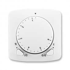 termostat otočný ABB Tango 3292A-A10101 B B kryt biely