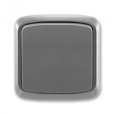 vypínač č.6 ABB Tango 3558A-06940 S2 dymový šedý kompletný IP44