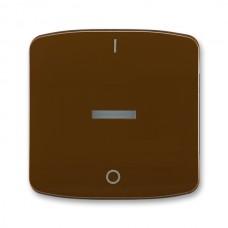 hnedá krytka s priezorom a potlačou ABB Tango 3558A-A00933 H pre sporákový vypínače č.3