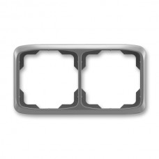 2rámik dymový šedý ABB Tango 3901A-B20 S2 vodorovný