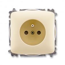 zásuvka bezskrutková ABB Tango 5519A-A02357 C slonová kosť s clonkami