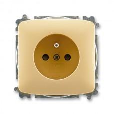 zásuvka bezskrutková ABB Tango 5519A-A02357 D béžová s clonkami