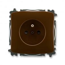 zásuvka bezskrutková ABB Tango 5519A-A02357 H hnedá s clonkami