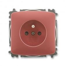 zásuvka bezskrutková ABB Tango 5519A-A02357 R2 vresová červená s clonkami