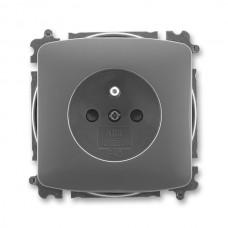 zásuvka bezskrutková ABB Tango 5519A-A02357 S2 dymová šedá s clonkami