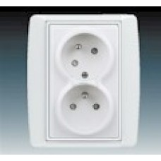 biela dvojzásuvka ABB Element 5513E-C02357 03