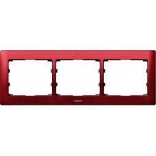 3rámik kovový červený Legrand Galealife 771903 vodorovný