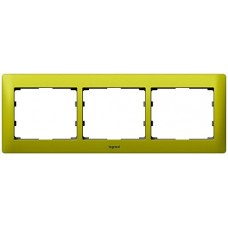 3rámik kovový zelený Legrand Galealife 771923 vodorovný