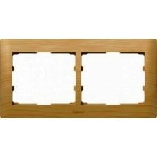 2rámik drevený rámik javor Legrand Galealife 771962 vodorovný