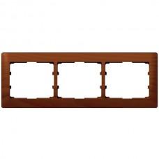 3rámik drevený rámik čerešňa Legrand Galealife 771973 vodorovný