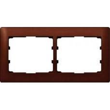 2rámik drevený rámik mahagón Legrand Galealife 771982 vodorovný