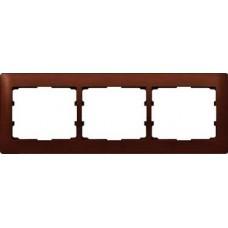 3rámik drevený rámik mahagón Legrand Galealife 771983 vodorovný