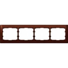 4rámik drevený rámik mahagón Legrand Galealife 771984 vodorovný