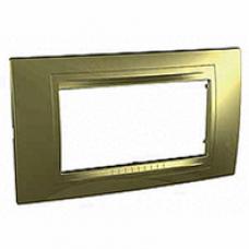 zlatý rámik Allegro pre 1 až 4 polmoduly, MGU4.103.64