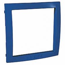 modrý vnútorný dekoračný rámik pre rámiky Schneider Unica colors MGU4.000.05