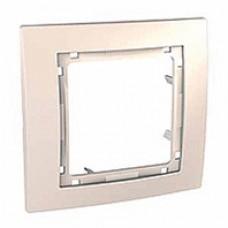 slonovinový 1 rámik Schneider Unica colors MGU4.002.25 bez vnútorného rámika