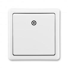 tlačidlo ABB Classic 3553-80289 B1 biele