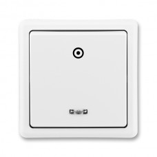 tlačidlo so signalizačnou tlejivkou ABB Classic 3553-91289 B1 biele