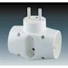 rozbočovací adaptér trojnásobný ABB 5323-23 B biely