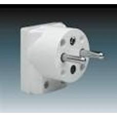 vidlica pohyblivá 16A uhlová ABB 5536-2154 biela