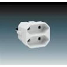 rozbočovací adaptér dvojnásobný ABB 5671-1127 biely
