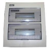 rozvádzač 24 (2-radový) modulový Stilo STI617-24 biely/priehľadný na povrch