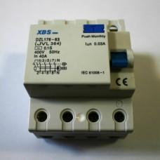 prúdový chránič XBS FI 40A/30mA 4P