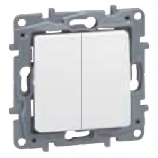 vypínač č.5b (6+6) Legrand Niloé 764502 biely, starý kód 664702