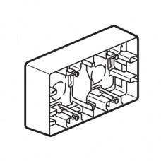 dvojitá krabica pre povrchovú montáž Legrand Niloé 664799 biela