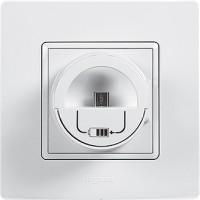 stojan s mikro USB nabíjačkou  Legrand Niloé 764596 biely