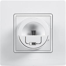 stojan s mikro USB nabíjačkou  Legrand Niloé 764696 béžový