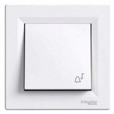 tlačidlo č.1/0 s piktogramom zvončeka Schneider Asfora EPH0800121 biele kompletné