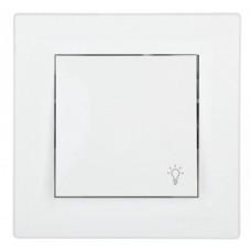 tlačidlo č.1/0 s piktogramom svetla Schneider Asfora EPH0900123 krémové kompletné