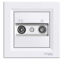 TV RD zásuvka koncová Schneider Asfora EPH3300121 biela kompletná