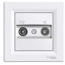 TV SAT zásuvka koncová Schneider Asfora EPH3400121 biela kompletná