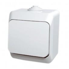 vypínač č.1 IP44 biely Schneider Cedar plus WDE000510 na povrch