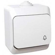 tlačidlo č.1/0 so symbolom zvončeka IP44 biele Schneider Cedar plus WDE000512 na povrch