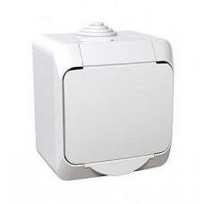 zásuvka IP44 s clonkami biela Schneider Cedar plus WDE000540 na povrch