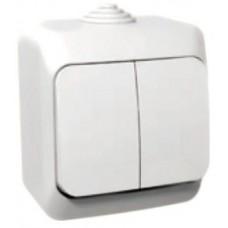 vypínač č.5 IP44 biely Schneider Cedar plus WDE000550 na povrch