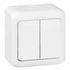 vypínač č.5 IP44 biely Legrand Forix 782362 na povrch