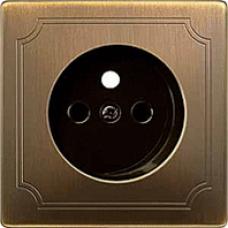 kryt  pre zásuvku antique brass Schneider Merten MTN2530-4143 System Design